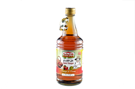 Kedah, Malaysia - February 09, 2017: Darna apple cider vinegar is a product from Lebanon that has been exported to most of the world market. Editorial