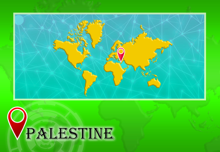 Palestine Map Stock Vector Illustration And Royalty Free - Palestine location