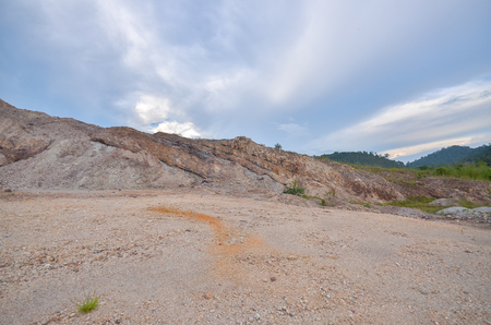 View of a Quarry site Stock Photo