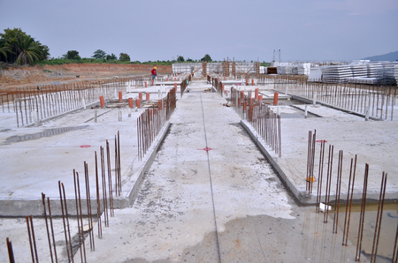 industrialised: IBS (industrialised building system) Construction Site