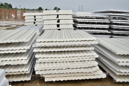 ibs: IBS (Industrialised Building System) wall panel made by styrofoam