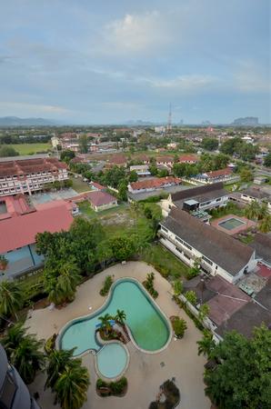 Malaysian cityscape of Kangar Perlis