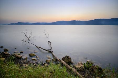Sunset at Tasoh lake Malaysia