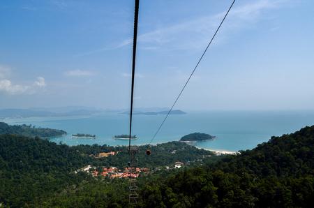 Cable car of Langkawi Malaysia at Gunung Mat Cincang