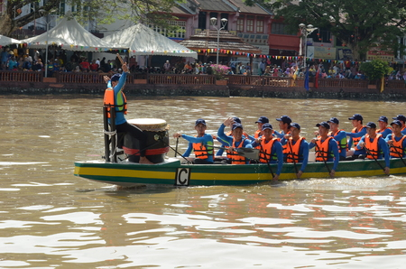 Kedah, Malaysia - May 06, 2017: International River Sport Festival (Temasya Sukan Sungai) in Malaysia of 84th due to the Birthday of His Highness Tuanku Sultan Kedah.
