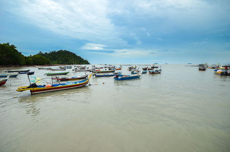 Beautiful shore with fisherman boats