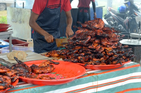 prepared: A bunch of food prepared and ready for sell on Street Stall at Ramadan Bazaar of Malaysia