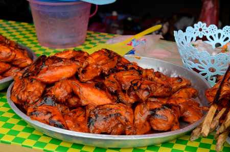 A bunch of food prepared and ready for sell on Street Stall at Ramadan Bazaar of Malaysia