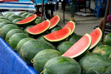 Watermelon sell on street stall