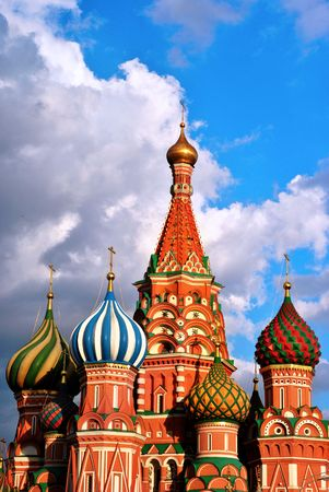 red square moscow: Catedral de St.Basil ubicado en la Plaza Roja, Mosc�, Rusia  Foto de archivo