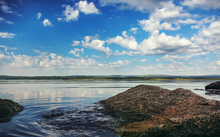 urals: View of the lake in the Urals