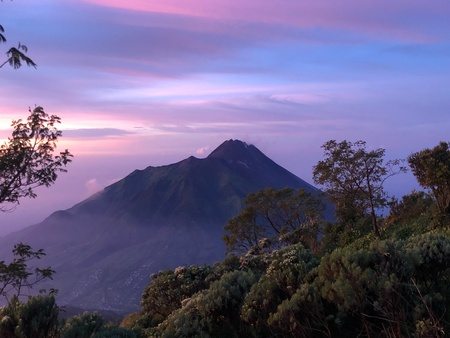 Merapi Sunrise Stock Photo