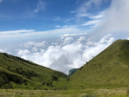 Mount Merbabu scenery Stock Photo - 106349419
