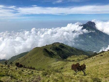 Mount Merbabu scenery Stock Photo