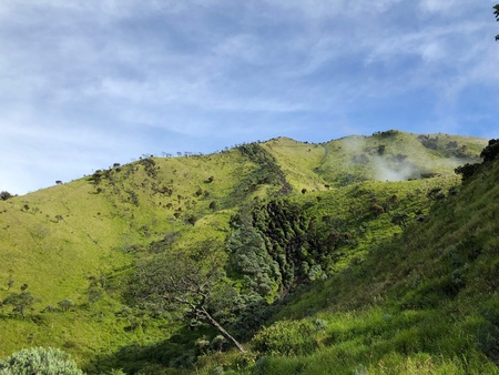 Mount Merbabu scenery Stock Photo