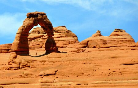 Delicate Arch, one of the famous landmark near Arches National Park, Moab, Utah, U.S.A