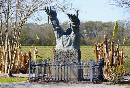 Edgard, Louisiana, U.S.A - February 2, 2020 - A Monument near Whitney Plantation Editorial