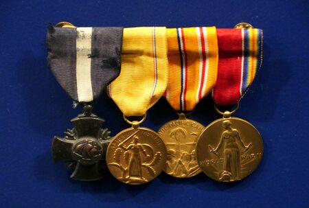 New Orleans, Louisiana, U.S.A - February 5, 2020 - Navy Cross Citations and medals Publikacyjne