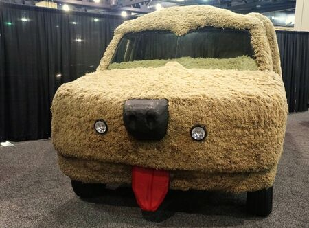 Philadelphia, Pennsylvania, U.S.A - February 9, 2020 - The 1989 Sheepdog custom built from a Ford Econoline van in the movie Dumb And Dumber