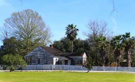 Edgard, Louisiana, U.S.A - February 2, 2020 - An old farm house near Whitney Plantation