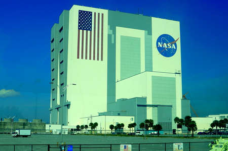 Cape Canaveral, Florida, U.S.A - February 17, 2019 - The view of the main building of National Aeronautics and Space Administration (NASA) Editorial