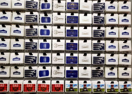 Wilmington, Delaware, U.S.A - June 6, 2019 - Variety of gift cards at Lowe's Editorial