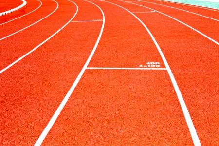 running track: Red running track