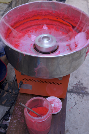 cotton candy: People are making candy cotton candy in one community.