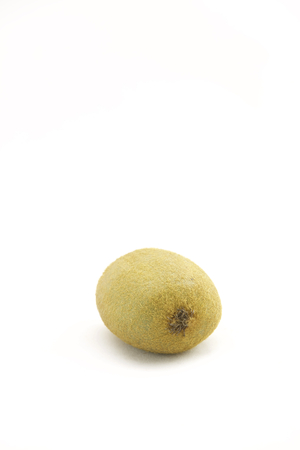 perfectly: A perfectly fresh kiwifruit isolated on white.