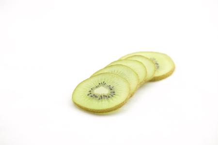 kiwifruit: A perfectly fresh kiwifruit isolated on white.
