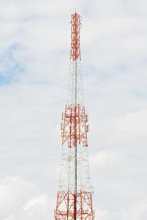 Antennas transmit and receive signals via satellite to use