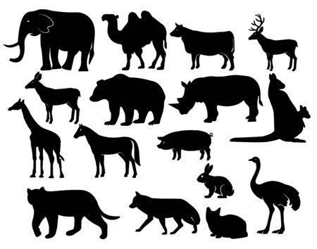 Animals vector icons set - Vector Illustration