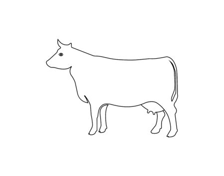 Cow vector icon. Simple flat design. Can be used for web and mobile apps.
