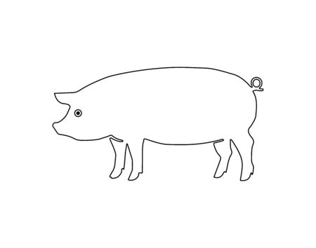Pig icon. Pork icon. Pig vector illustration - Vector Ilustracja