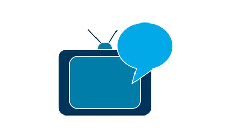 Online , broadcast advertising  icon vector illustration.