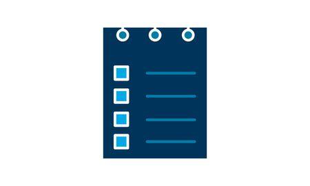 Planning icon. Simple flat symbol. Perfect  pictogram illustration on white background. 向量圖像