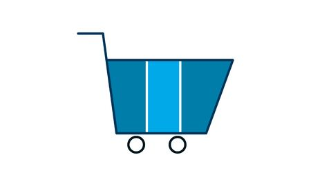 Shopping cart vector icon. Illustration isolated for graphic and web design