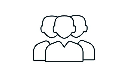 Team icon. Simple flat symbol. Perfect pictogram illustration on white background.