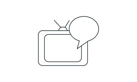 Online , broadcast advertising icon vector illustration. Иллюстрация