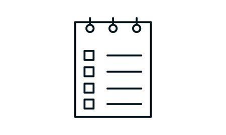 Planning icon. Simple flat symbol. Perfect pictogram illustration on white background.