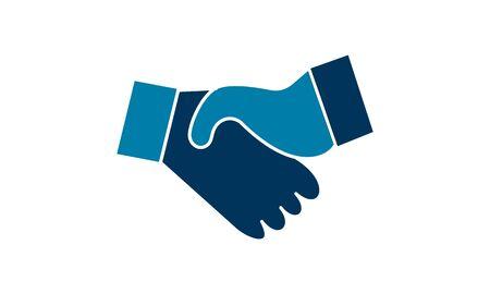 Handshake icon vector illustration used for website.