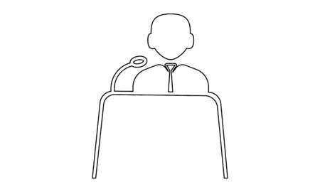 Witness icon. Law icon concept vector illustration. Can be used for website.