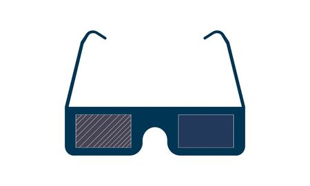 3D Glasses icon vector concept illustration for design. Illustration
