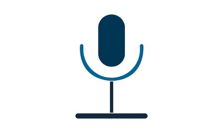 Microphone vector icon. Simple flat symbol. Perfect pictogram illustration on white background.