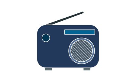 Radio set vector icon. Simple flat symbol. Perfect pictogram illustration on white background. 向量圖像