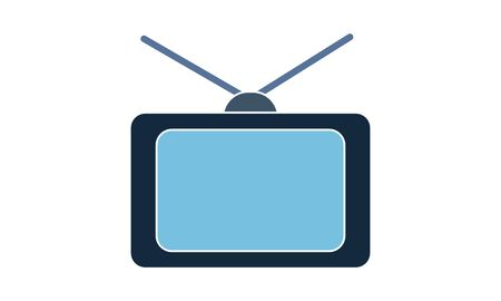 Television vector icon. Simple flat symbol. Perfect pictogram illustration on white background. Иллюстрация