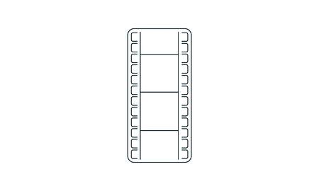 Film icon vector concept illustration for design. Illustration
