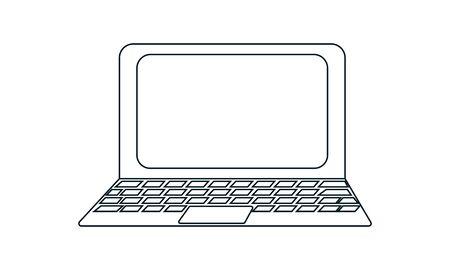 Ilustración de concepto de vector de icono de computadora portátil para el diseño.
