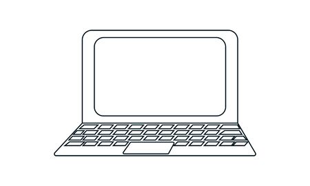 Laptop icon vector concept illustration for design.