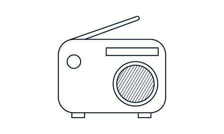 Radio set vector icon. Simple flat symbol. Perfect pictogram illustration on white background. Ilustrace